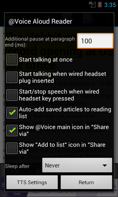 Voice Aloud Reader for Android - Free!